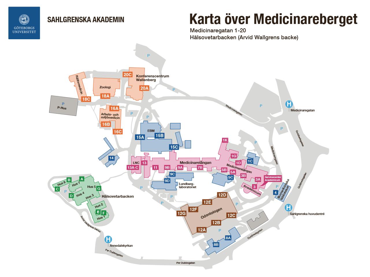 sahlgrenska karta Sahlgrenska akademin – Studentportal sahlgrenska karta