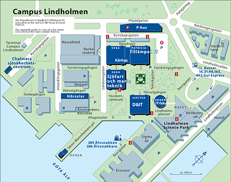 Bild: Map of Campus Lindholmen